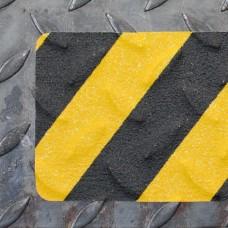 Лента для неровных, рифленых и грубых поверхностей, черно-желтый цвет