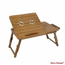 Стол накроватный складной бамбуковый L7