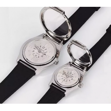 Тактильные наручные часы с хромовым покрытием