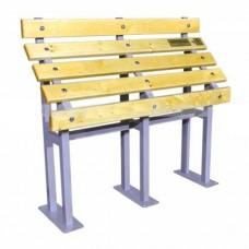 Скамья для инвалидов из стали с порошковой покраской, 1060x1200x360 мм