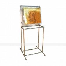 Вертикальная наклонная стойка для мнемосхемы, 630x800мм