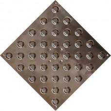 Тактильная плитка из стали (шахматный конус)