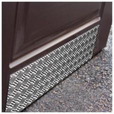 Отбойник для двери из рифлёного алюминия на клеевой основе, 300х1200 мм