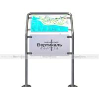 Горизонтальная стойка для мнемосхемы (для улицы/помещений), 470х610мм