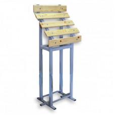 Скамья для инвалидов из стали с порошковой покраской, 1470x600x355 мм