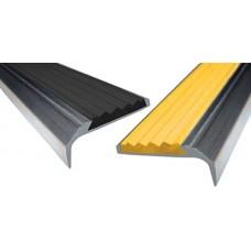 Алюминиевый противоскользящий угол-порог 42 мм с 1-ой резиновой вставкой