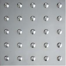Тактильная плитка из стали (линейный конус, 300х300 мм)