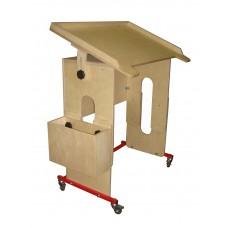 Подкатная стол-парта с наклоном столешницы