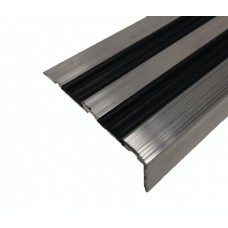 Алюминиевый угловой порог ЭКО-68х30 с резиновой вставкой