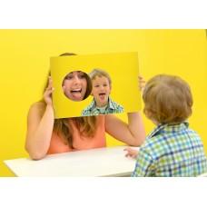 Зеркало логопедическое с отверстием