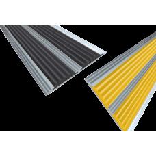 Алюминиевая полоса с двумя резиновыми вставками 70мм х 5,5мм