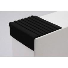 Самоклеющийся резиновый противоскользящий угол 44 мм, черный
