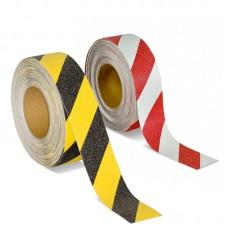 Предупреждающая противоскользящая лента, 50 мм х 18,3 м