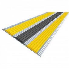 Алюминиевая полоса с тремя резиновыми вставками 100мм х 5,6мм