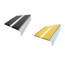 Алюминиевый угол-порог с двумя резиновой вставкой 73мм х 5,5 мм