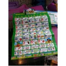 Говорящий плакат «Азбука, учим с Чебурашкой» - развивающая игрушка
