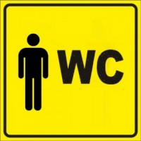 """Тактильный знак пиктограмма """"Туалет М"""""""