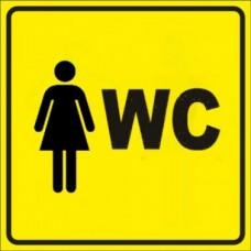 """Тактильный знак пиктограмма """"Туалет Ж"""""""