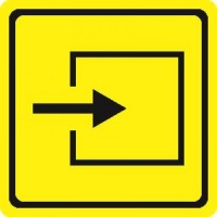 """Тактильный знак пиктограмма """"Вход в помещение"""""""