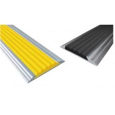 Алюминиевая полоса с одной резиновой вставкой 46мм х 5мм