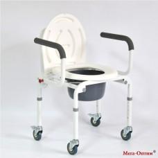 Стул-кресло с санитарным оснащением на колесах FS813