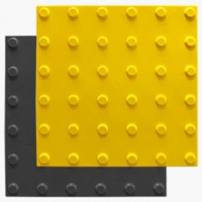 Тактильная плитка ПВХ (линейный конус, 300х300 мм)