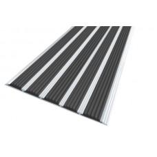 Алюминиевая антискользящая полоса для ступеней с пятью вставками 162 мм/5,5 мм