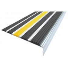 Алюминиевый угол-порог с пятью резиновыми вставками 160мм х 6мм