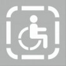 Трафарет для нанесения знака «парковка для инвалидов» 1000х1000мм