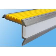 Алюминиевый профиль для ступеней с резиновой вставкой и экраном для подсветки