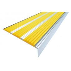 Алюминиевый угол-порог с тремя резиновой вставкой 98мм х 5,6мм