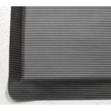 Противоусталостный мат, линейное рифление, черный с двумя  черными краями